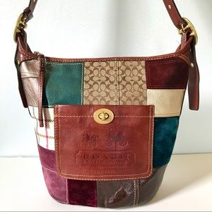 Coach Holiday Patchwork Bleeker Duffle Bucket Bag